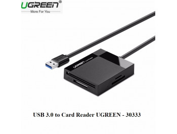 USB 3.0 To Card Reader TF/SD/CF/MS Chính Hãng UGREEN 30333